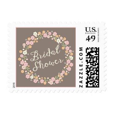Garden Party Floral Wreath  Blush Postage