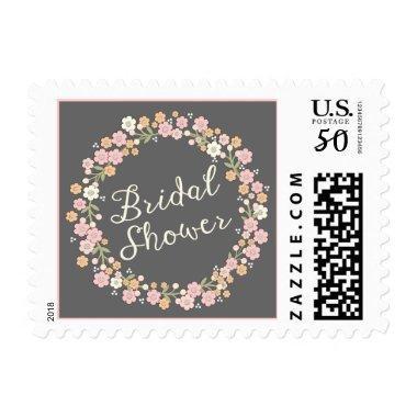 Garden Party Floral Wreath  Blush Postage