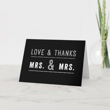 gay lesbian couple wedding thank you invitations