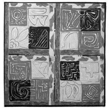 GEOMETRIC 1 MoJo Napkin Set Of 4 GREY LAGOON