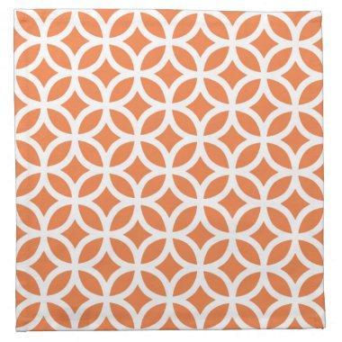 Geometric Cloth Napkin in Celosia Orange