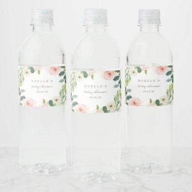 Geometric Spring Romance Water Bottle Labels