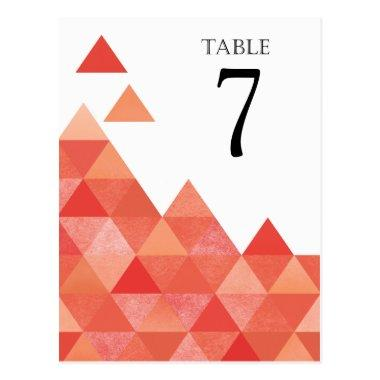 Geometric Triangles Table Numbers | coral Post