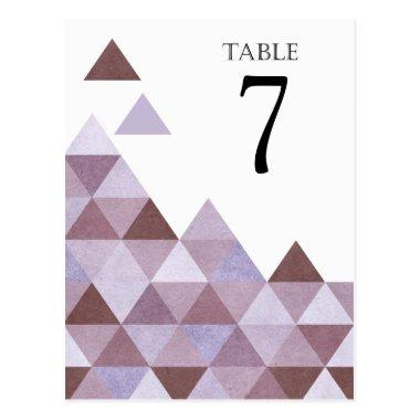 Geometric Triangles Table Numbers | periwinkle