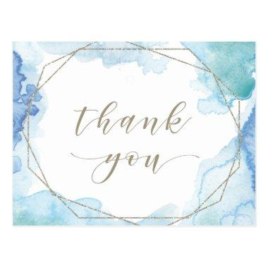 Geometric Watercolor Thank You PostInvitations