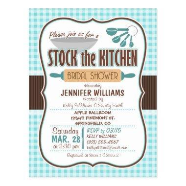 Gingham Stock the Kitchen  Invitation Post