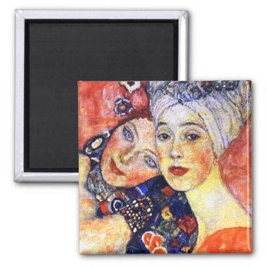 Girlfriends by Klimt Magnet Art Nouveau