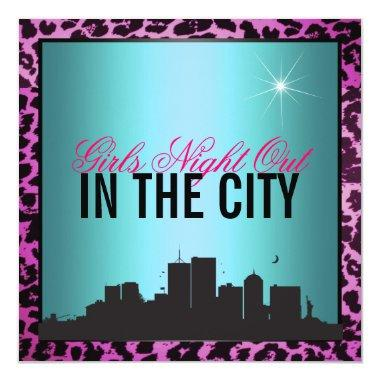 Girls night out in the city Invitations