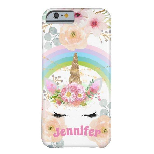 Girls Unicorn Face Personalized Case Add Name