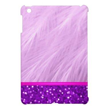 Girly Bling Bride Mom Monogram Cute Purple Glitter Cover For The iPad Mini