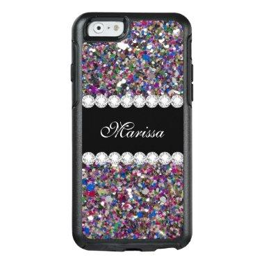 Girly Glitter Pink Purple Blue White Sparkles OtterBox iPhone 6/6s Case