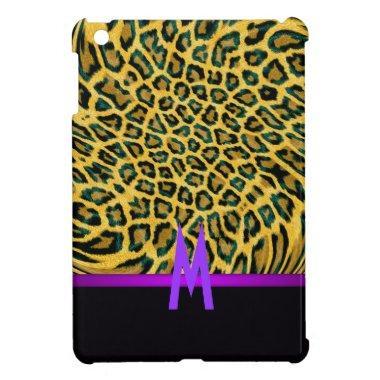 Girly Leopard Animal Pattern Initial Cool Cute iPad Mini Case