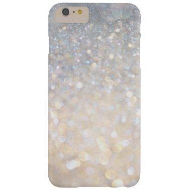 Girly Modern Pink Glitter PRINT iPhone 6 Plus Case