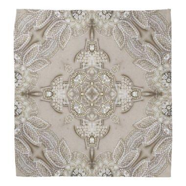 girly Rhinestone lace pearl glamorous Bandana