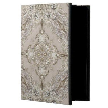 girly Rhinestone lace pearl glamorous Cover For iPad Air