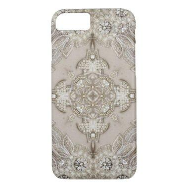 girly Rhinestone lace pearl glamorous iPhone 7 Case