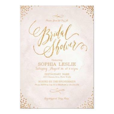 Glam blush rose gold calligraphy