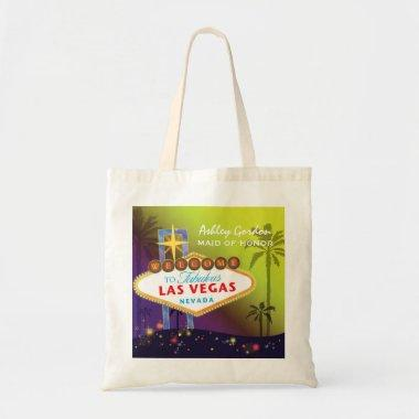 Glam Las Vegas Wedding Maid of Honor Gift Tote Bag