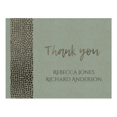 GLAMOROUS COPPER SILVER DOTS MOSAIC THANK YOU POST