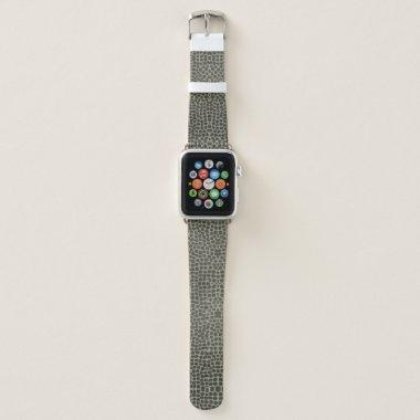 GLAMOROUS DARK COPPER SILVER DOTS MOSAIC APPLE WATCH BAND