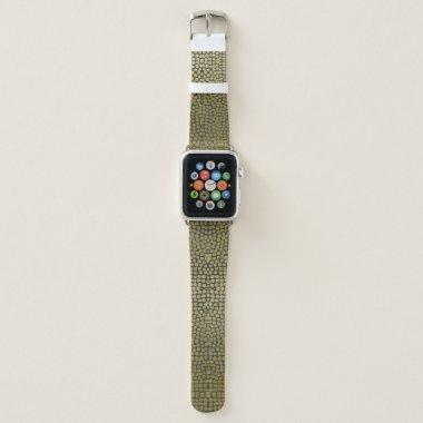 GLAMOROUS GOLD BLACK DOTS MOSAIC BOHO PATTERN APPLE WATCH BAND