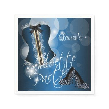 Glamorous Lingerie Bachelorette Party | Blue Paper Napkins