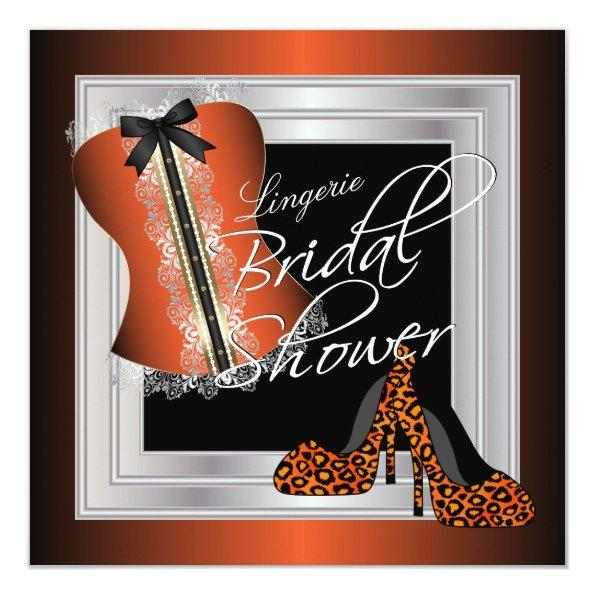 Glamorous Lingerie Bridal Shower | Orange Invitations