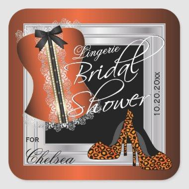 Glamorous Lingerie  | Orange Square Sticker