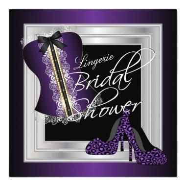 Glamorous Lingerie Bridal Shower | Purple Invitations
