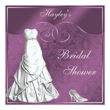 Glamorous Wedding Gown Purple