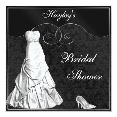 Glamorous White Gown Black Silver
