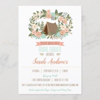 Glamping Bridal Shower Invitations