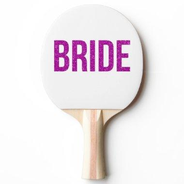 Glitter Bride Pink Ping-Pong Paddle