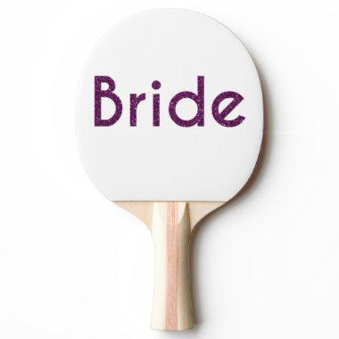 Glitter Bride Purple Ping-Pong Paddle