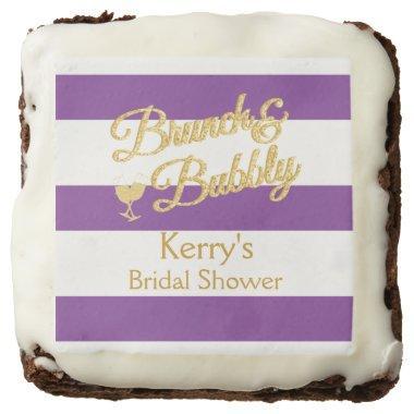 Glitter, Purple and White Stripe Brownies