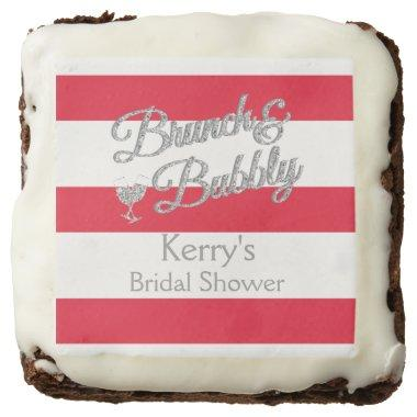 Glitter, Red and White Stripe Brownies