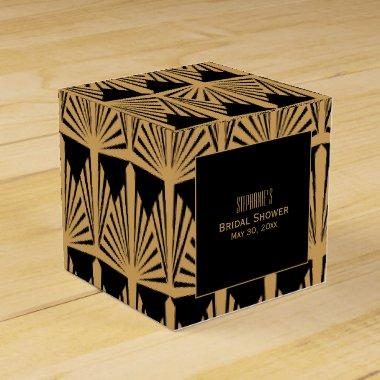 Gold and Black Art Deco Pattern  Favor Box