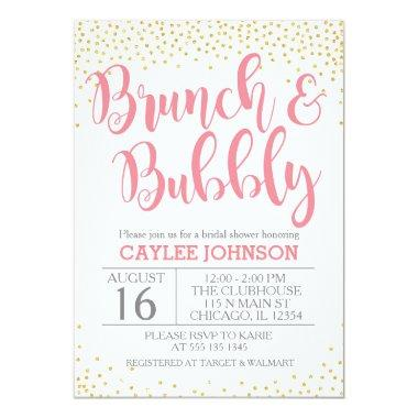 Gold and Blush Brunch and Bubbly Shower