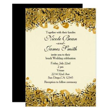 Gold & Black Exotic Jungle Cheetah Invitations