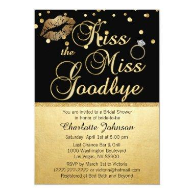 Gold Black Kiss the Miss Goodbye