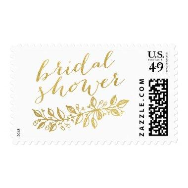GOLD BRIDAL SHOWER POSTAGE