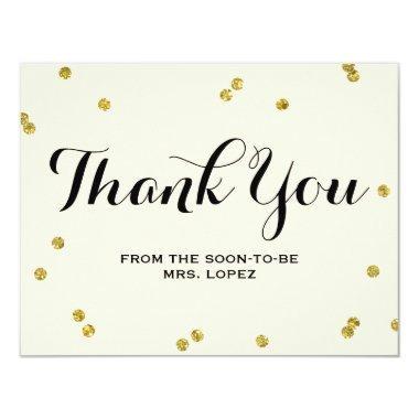 Gold Glitter |  Thank You