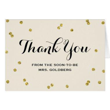 Gold Glitter | Bridal Shower Thank You Invitations