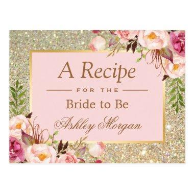Gold Glitter Pink Floral  Recipe