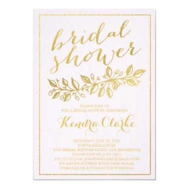 GOLD | PINK BRIDAL SHOWER Invitations