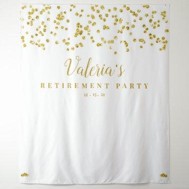 Gold Retirement Party Backdrop, Photo Booth Prop