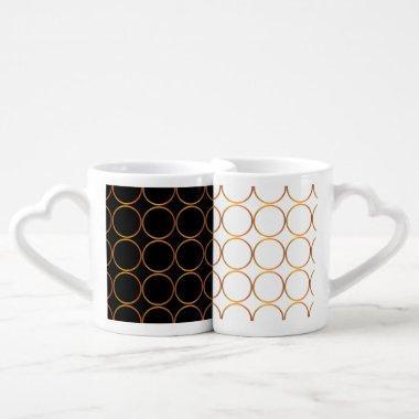 Gold rings coffee mug set