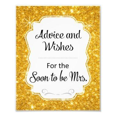 Gold Sparkle  Advice and Wishes Sign
