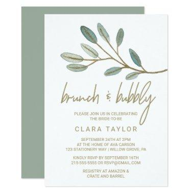 Gold Veined Eucalyptus Brunch and Bubbly