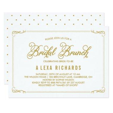 Gold Whimsical Borders Bridal Brunch